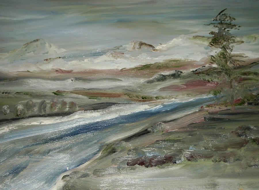 Landscape Painting - Sierra Mountain Stream by Edward Wolverton