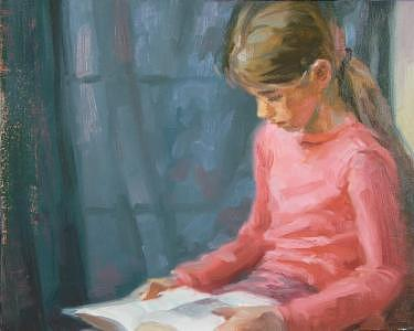Girl Reading Painting - Sierra Reading by Tony Bianco