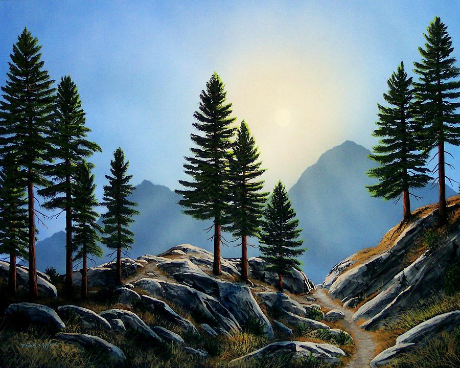 Landscape Painting - Sierra Sentinals by Frank Wilson