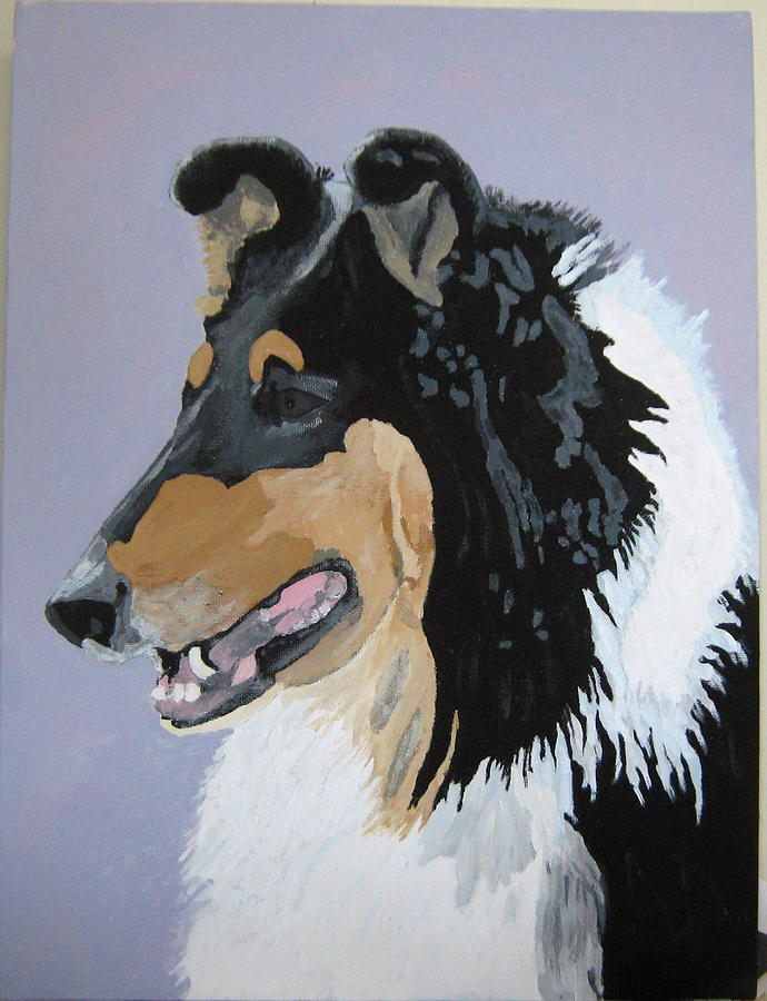 Dogs Painting - Sierra by Wendy Jackson