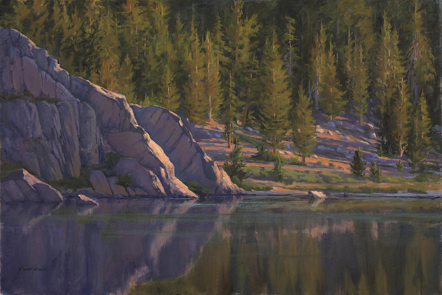 Mountains Painting - Sierras Last Light by Sharon Weaver