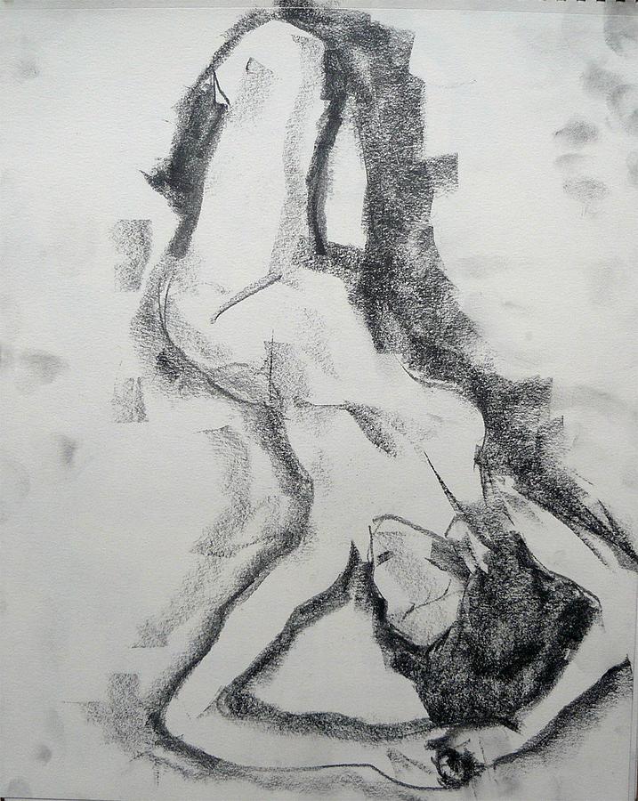 Portrait Drawing - Siesta by Abin Raj