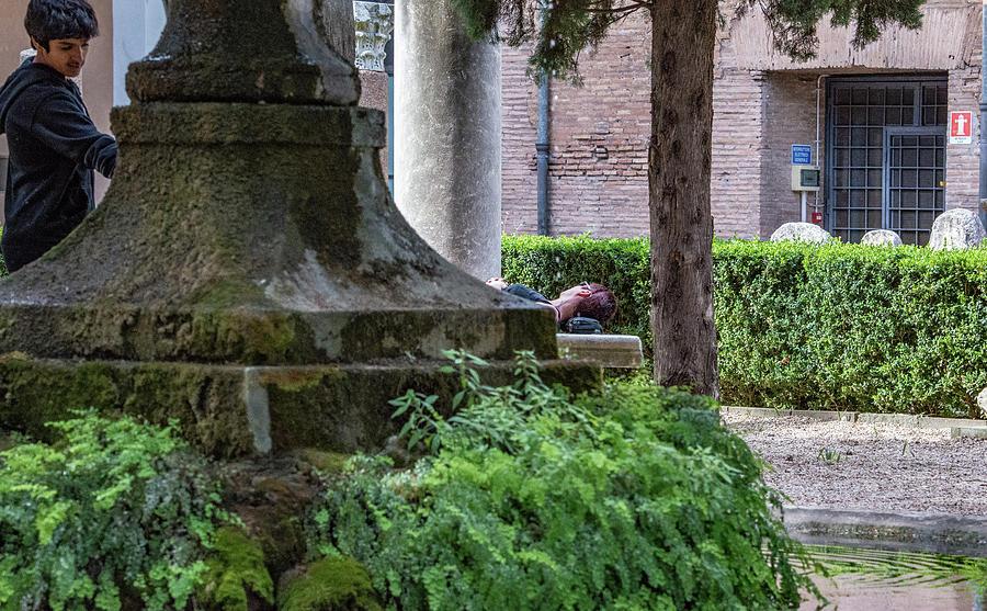 Baths Of Diocletian Photograph - Siesta by Joseph Yarbrough