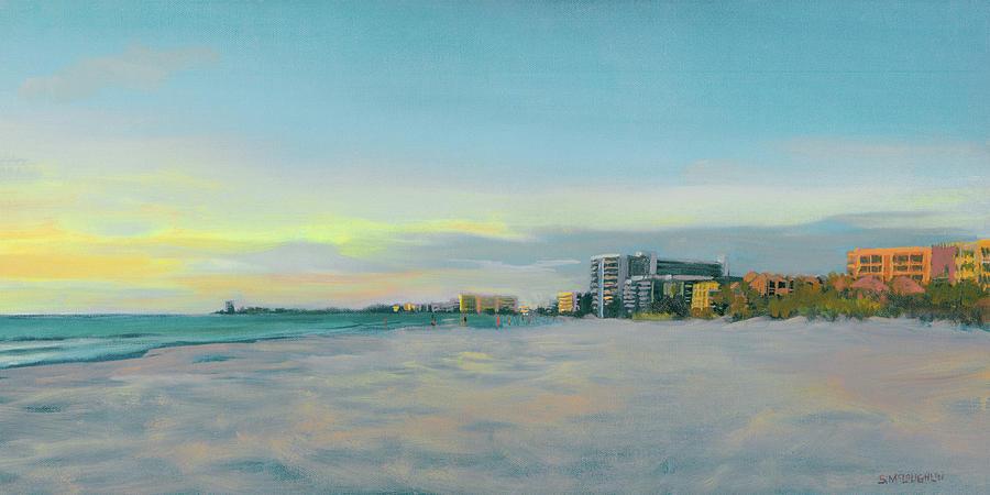 Siesta Key Painting - Siesta Key Beach At Dusk by Shawn McLoughlin
