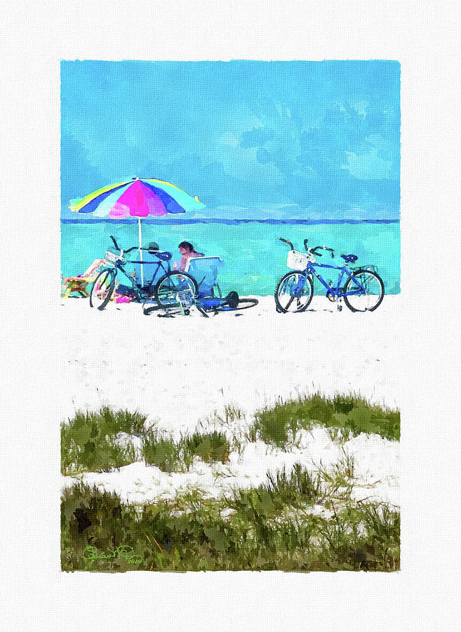 Siesta Key Beach Bikes by Susan Molnar