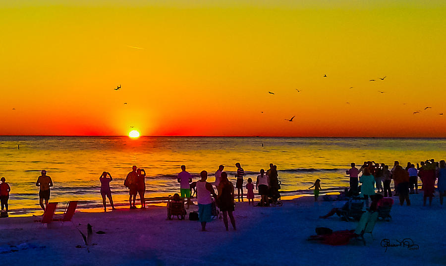 Siesta Key Drum Circle Sunset 1 by Susan Molnar