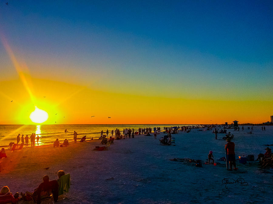 Siesta Key Drum Circle Sunset 3 by Susan Molnar