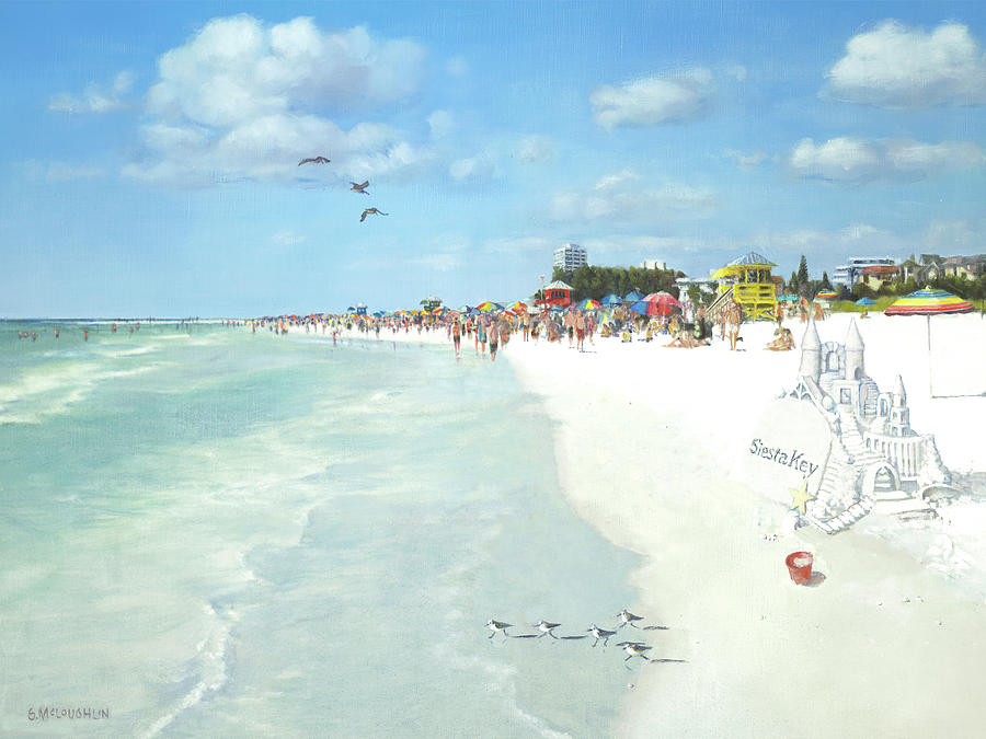 Siesta Key Public Beach with Sandcastle by Shawn McLoughlin