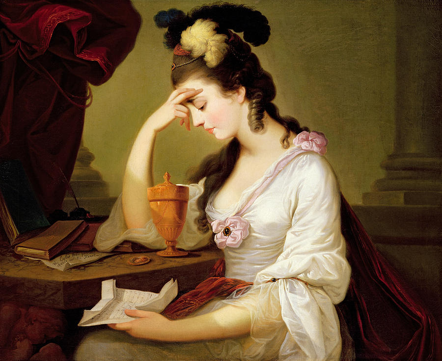 And Painting - Sigismonda And The Heart Of Guiscardo by Moses Haughton