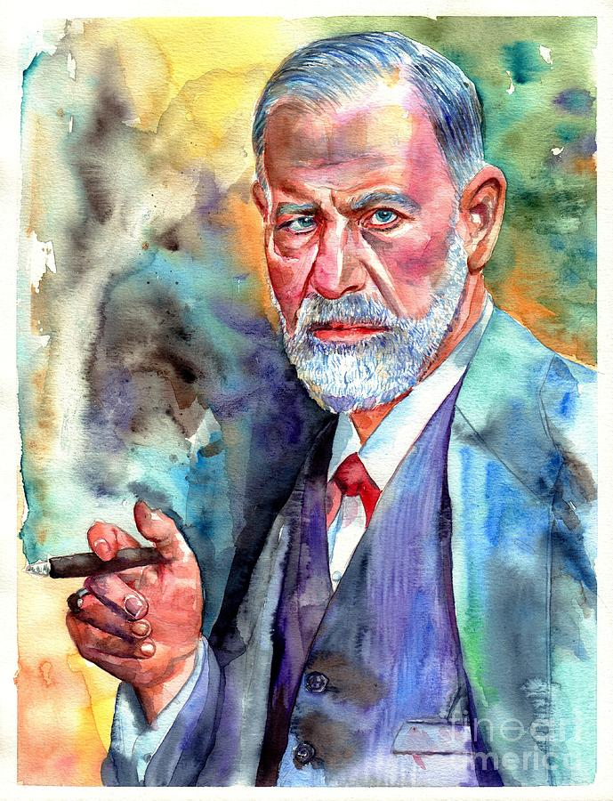 Sigmund Freud Painting Painting by Suzann Sines