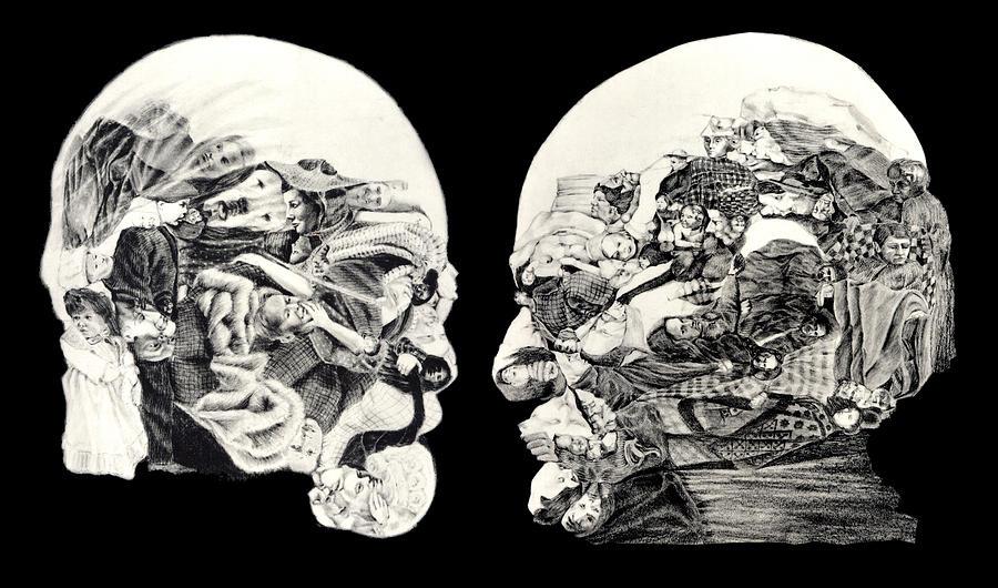 Sigmund Freud Drawing - Sigmund Freuds introspection by Richard Meric