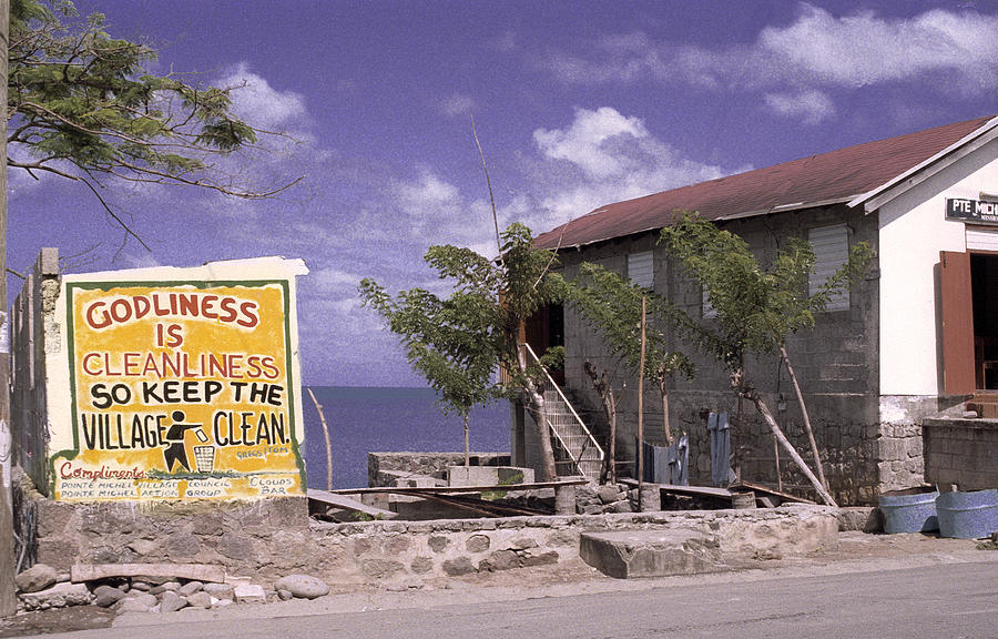 Sign In Dominica  Photograph by Richard Nickson