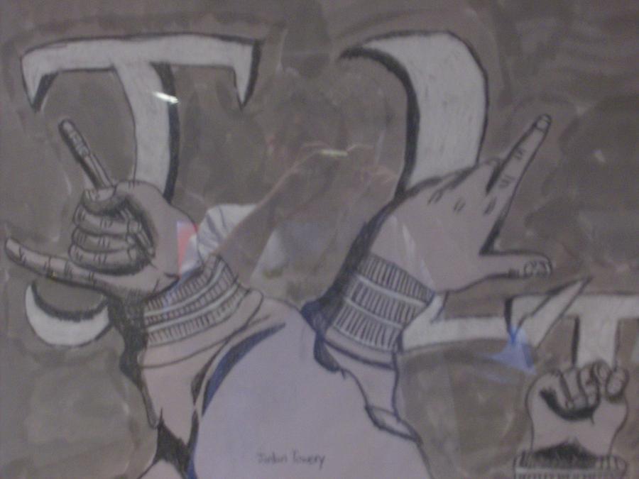 Mix Media Drawing - Sign-language  by Jordan  Towery