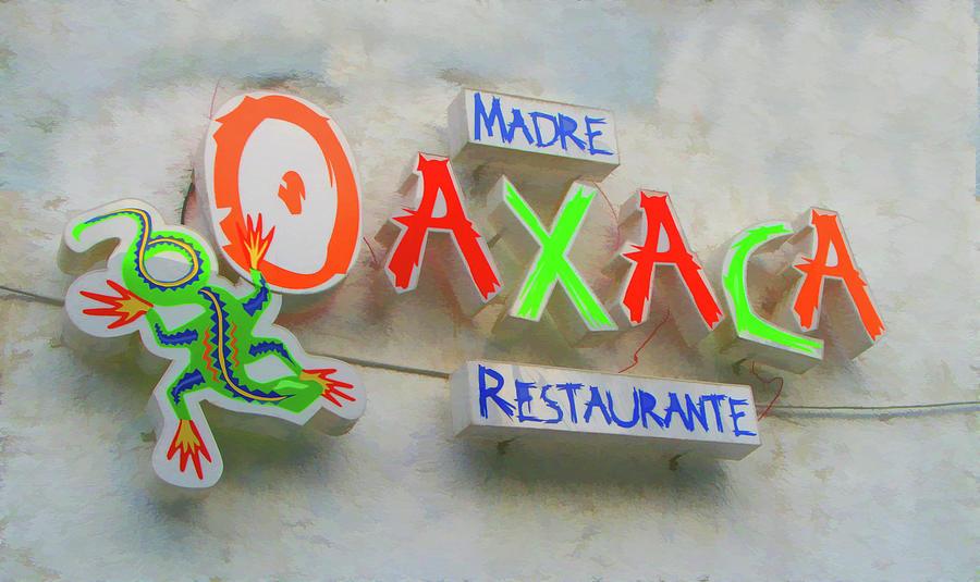 Monterrey Photograph - Sign Of Madre Oaxacan Restaurant by Art Spectrum