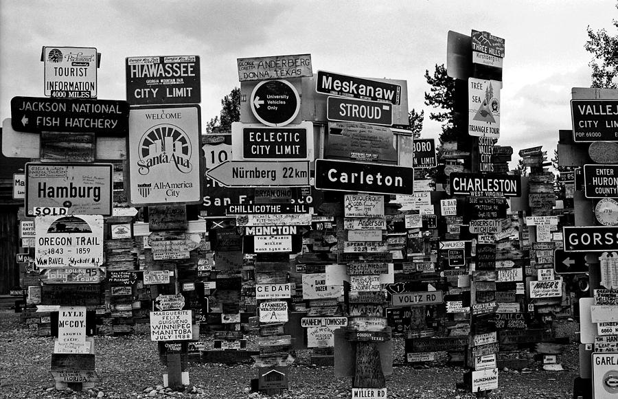 North America Photograph - Sign Post Forest by Juergen Weiss