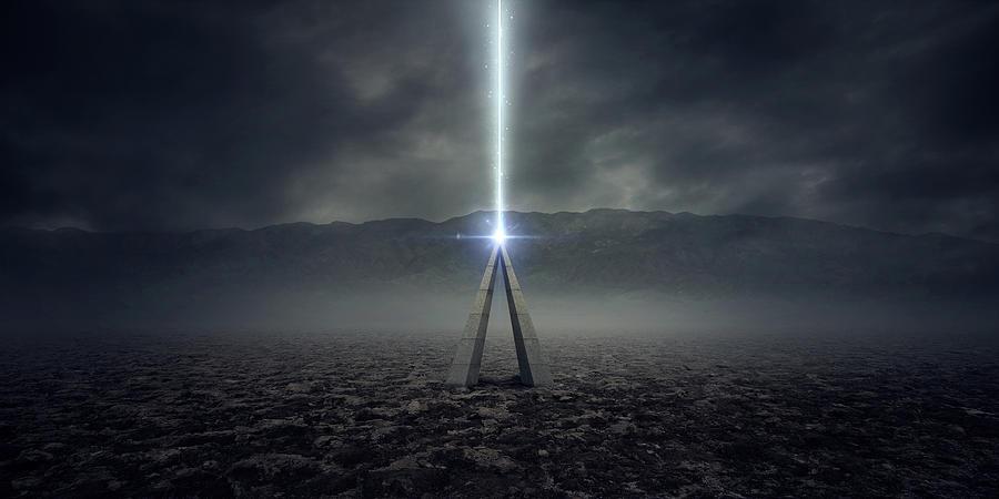 Alien Digital Art - Sign by Zoltan Toth