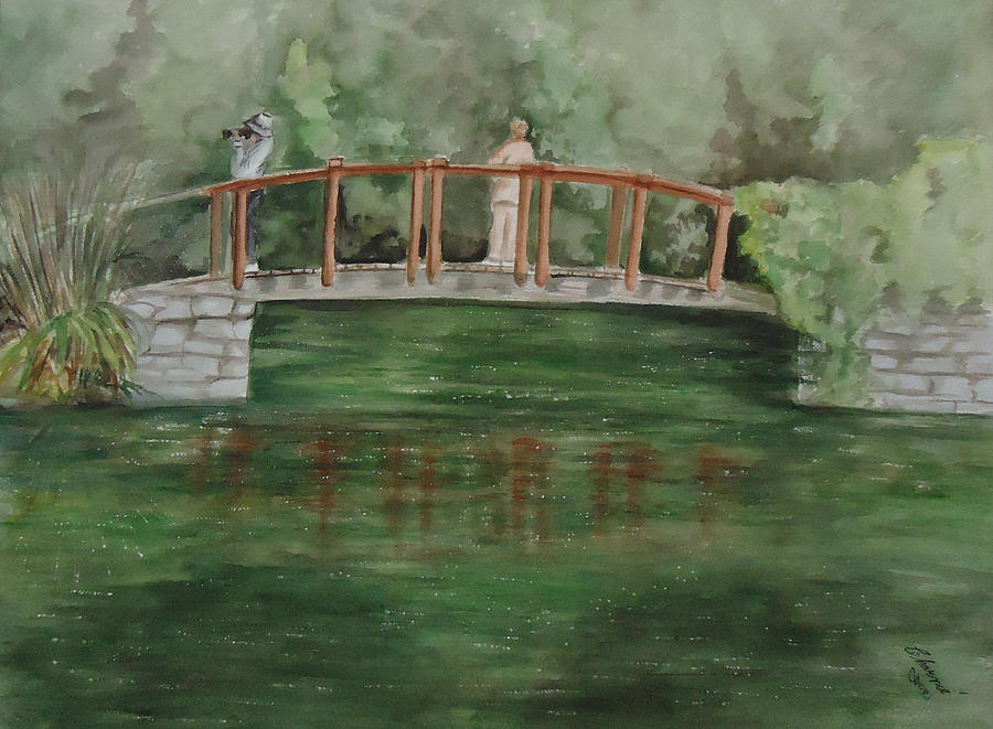 Bridge Painting - Signs Of Spring by Charme Curtin