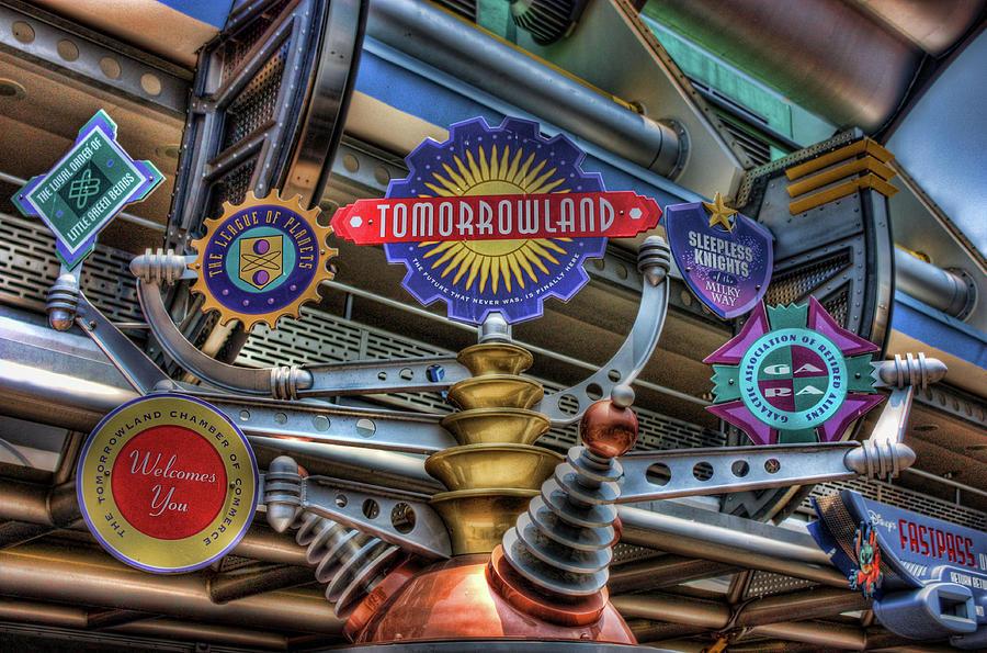 Disney Photograph - Signs Of Tomorrow by Joetta West