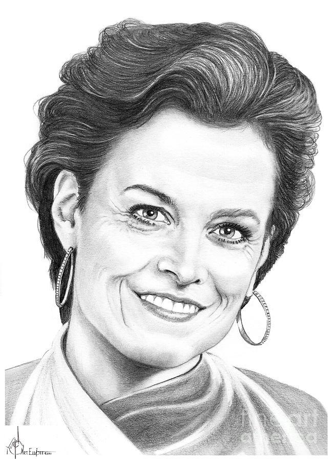 Drawing Drawing - Sigourney Weaver by Murphy Elliott