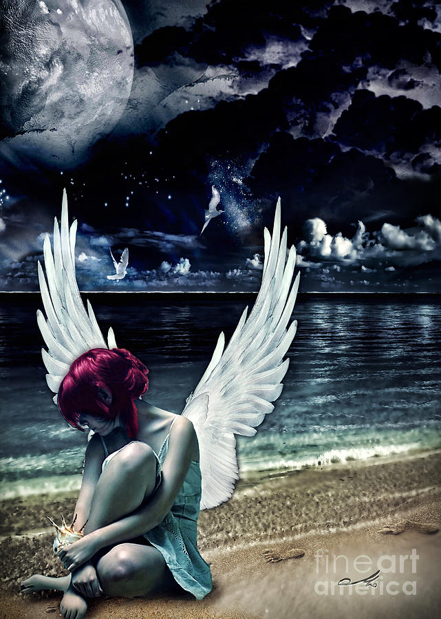 Silence Of An Angel Photograph - Silence Of An Angel by Mo T