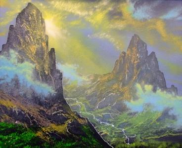 Mountains Painting - Silence Of The Mountains by Victor Kirton