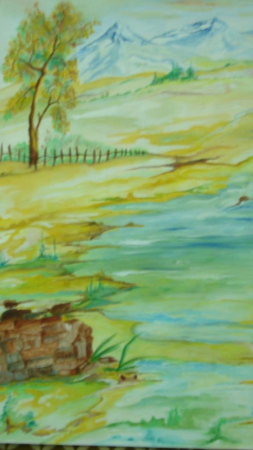 Landscape Painting - Silence by Seema Sharma