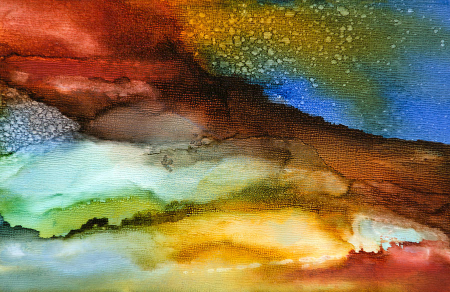Abstract Painting - Silent Conversations - A - by Sandy Sandy