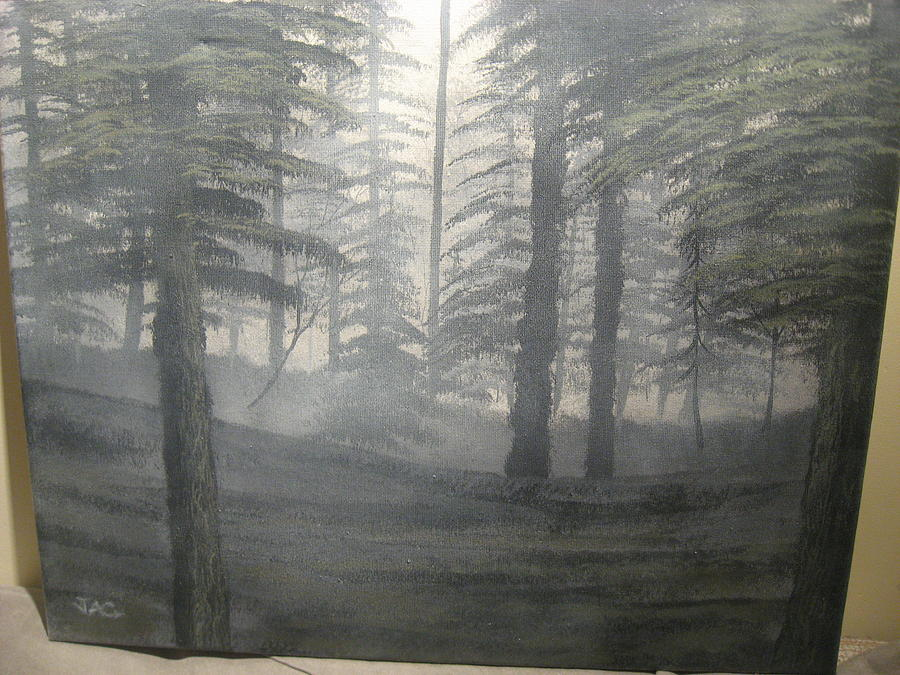 Landscape Painting - Silent Forest by Jim Carreau