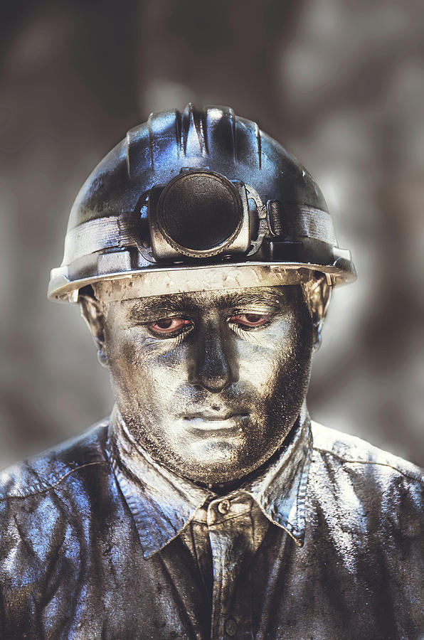 Silver Man Photograph - Silent Man V2 by Sotiris Filippou