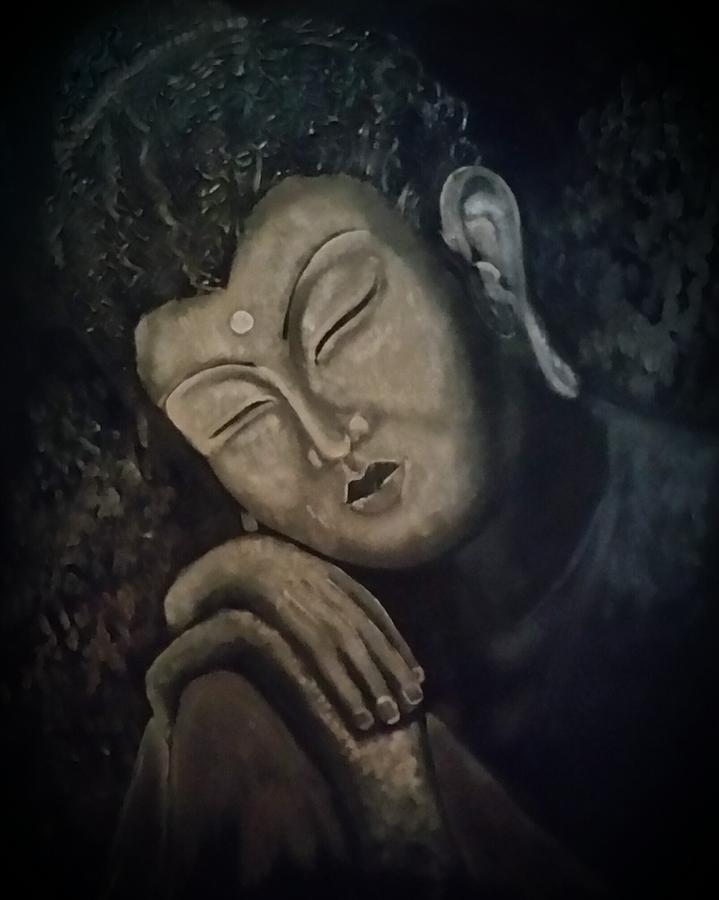 Buddha Painting - Silent Meditations by Carole Hutchison