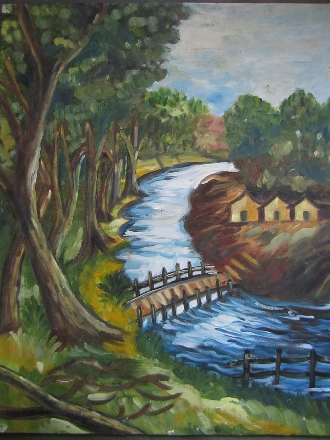 Silent Moment Painting by Lukumoni Haloi Das