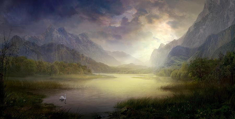 Philip Straub Painting - Silent Morning by Philip Straub