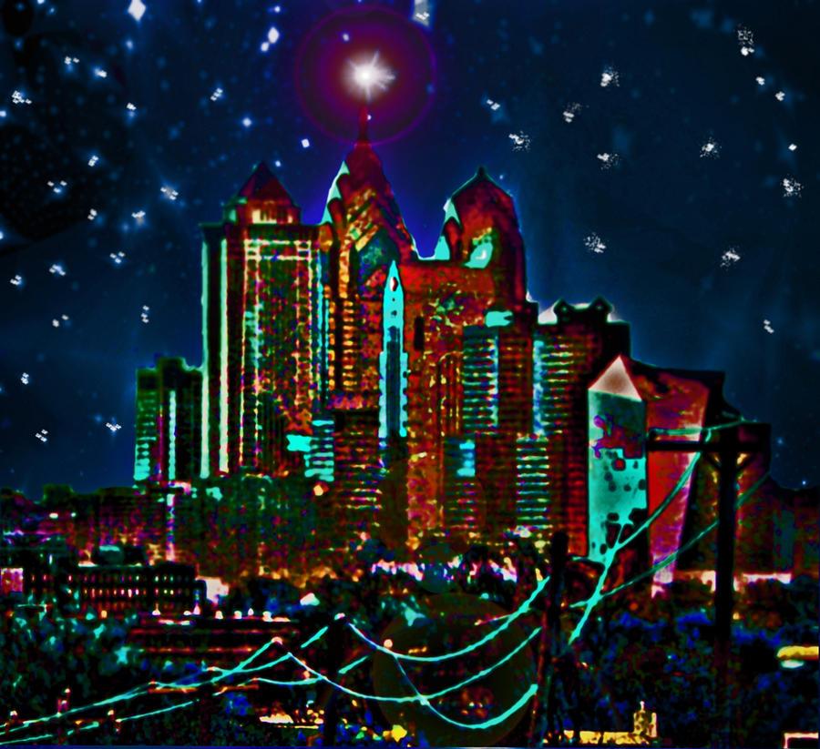 Philadelphia Digital Art - Silent Night Philly Night by Jonathan Shaps