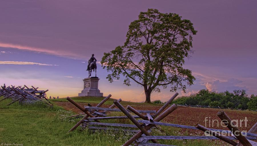 Gettysburg Photograph - Silent Reminder by Mike Griffiths