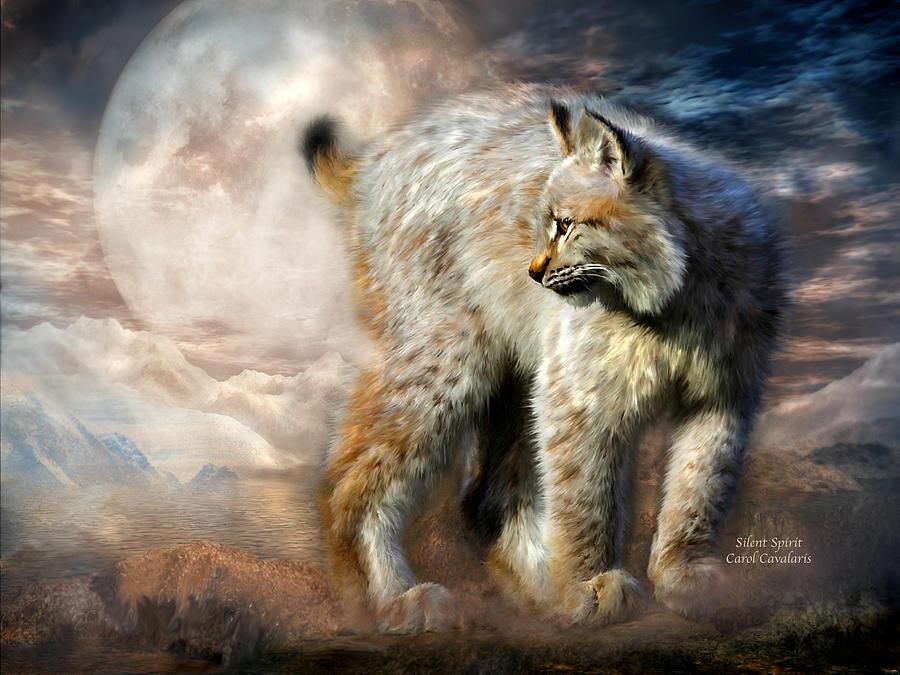 Lynx Mixed Media - Silent Spirit by Carol Cavalaris