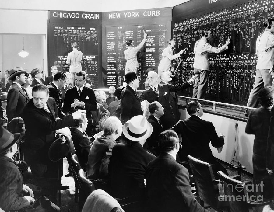 20th Century Photograph - Silent Still: Banking by Granger