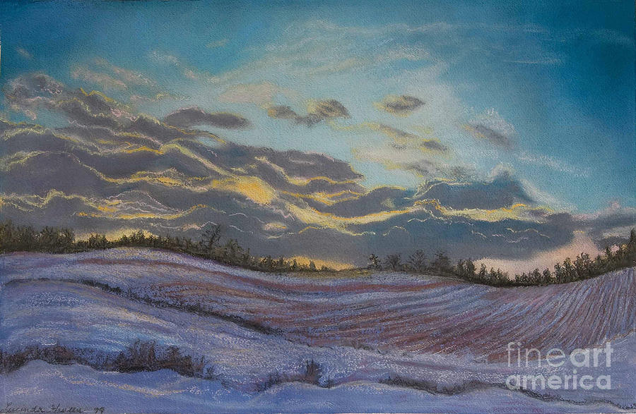 Snow Scene Painting - Silent Symphony by Lucinda  Hansen