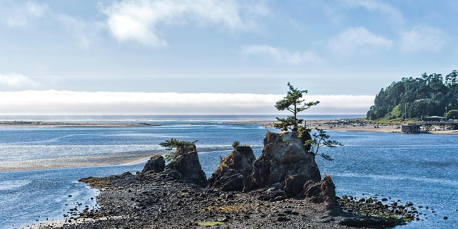 Ocean Photograph - Siletz Bay by Mike Herdering