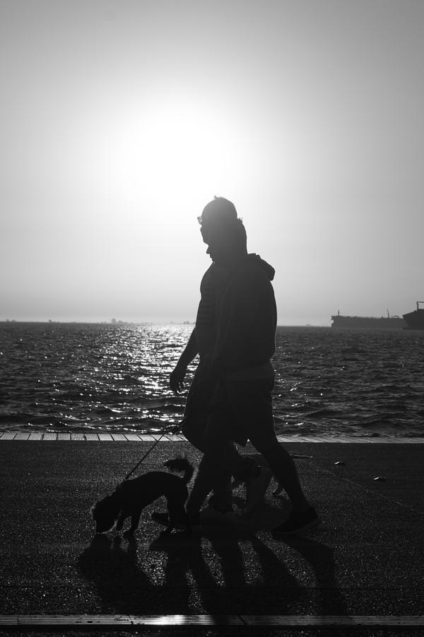 Woman Photograph - Silhouette Of A Couple  by Sotiris Filippou