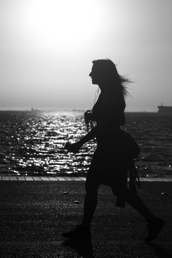 Woman Photograph - Silhouette Of A Woman by Sotiris Filippou