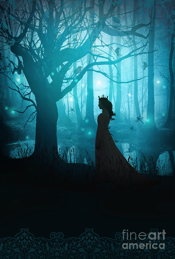 Alone Photograph - Silhouette Of A Womanin In A Forest At Twilight by Sandra Cunningham