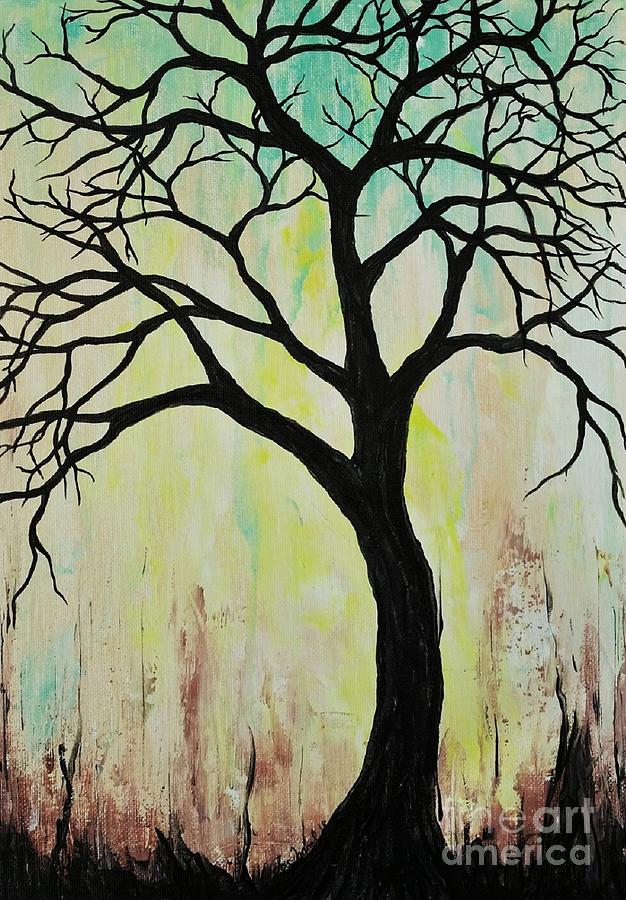 Silhouette Tree 2018 by Jessie Art