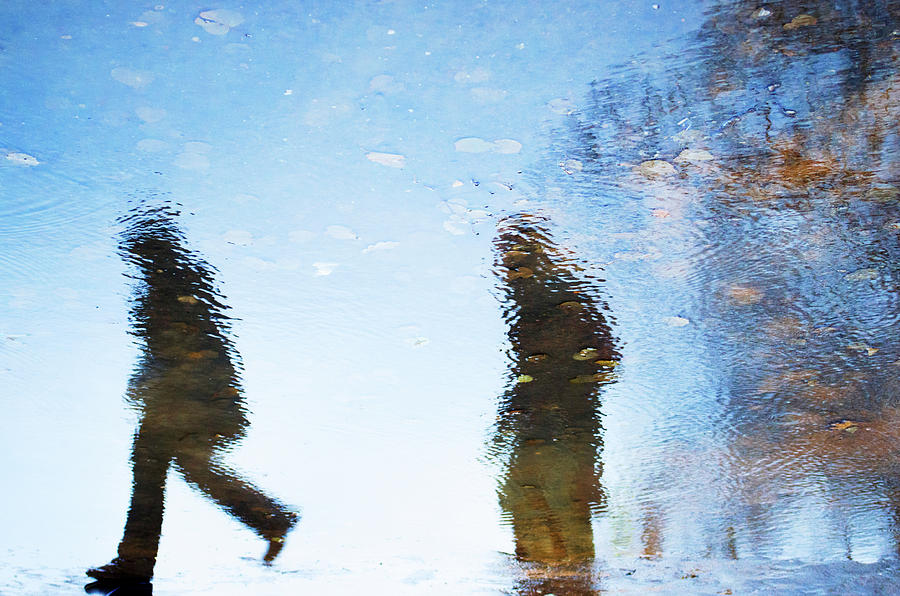 Impressionism Photograph -  Silhouettes In Blue Sky by Yulia Leshchenko