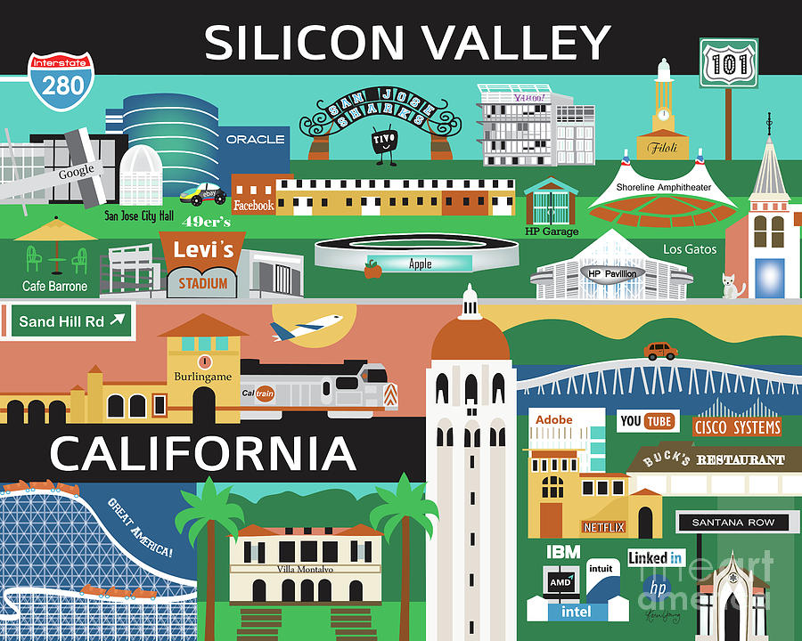 Image result for silicon valley illustration