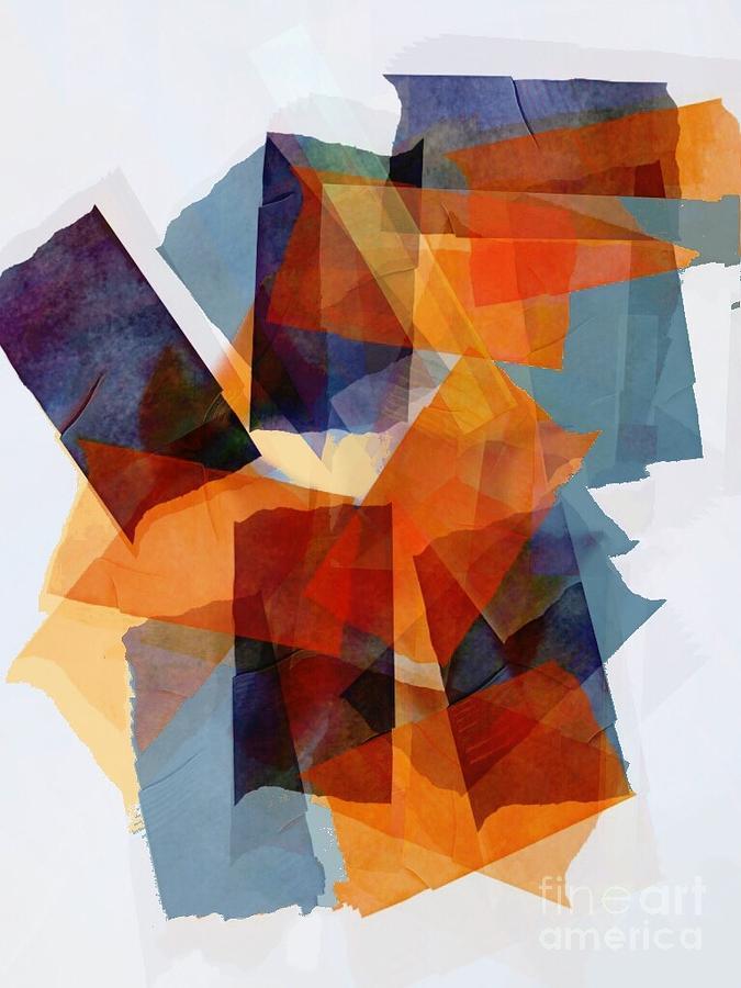 Abstract Digital Art - Silk by Cooky Goldblatt