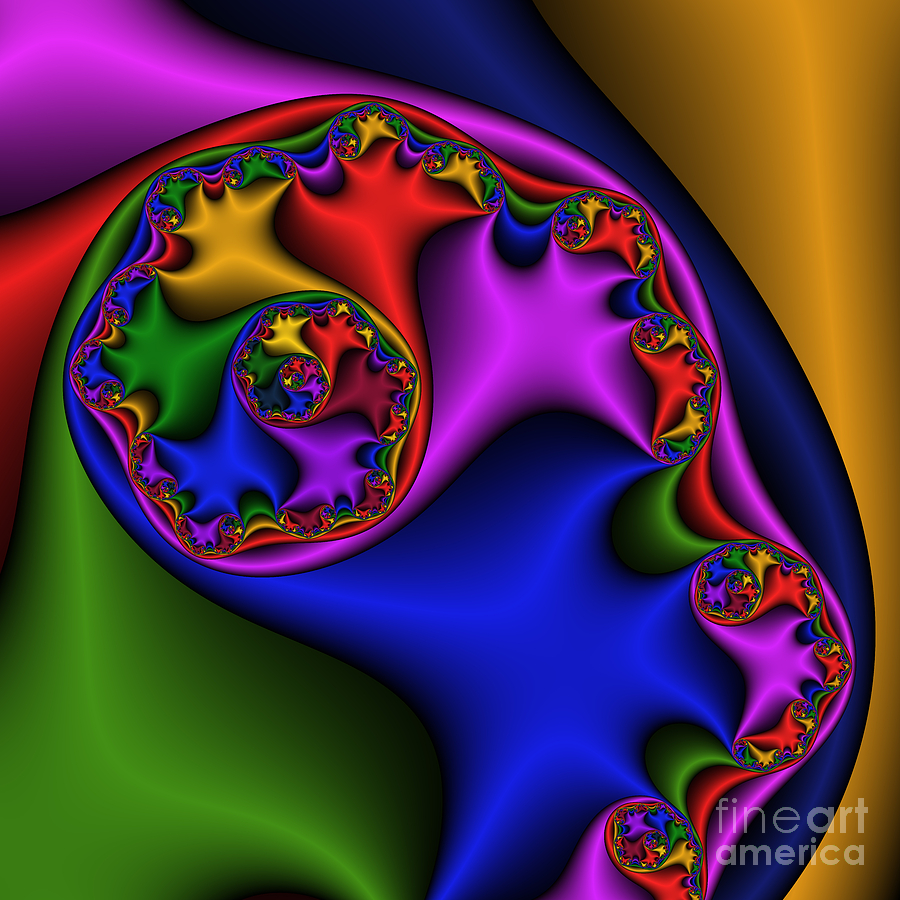 Abstract Digital Art - Silk Ear 185 by Rolf Bertram