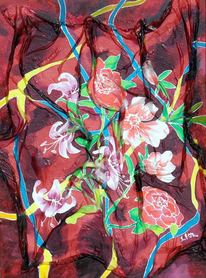 Silk Floral Ribbon by Sandra Fox