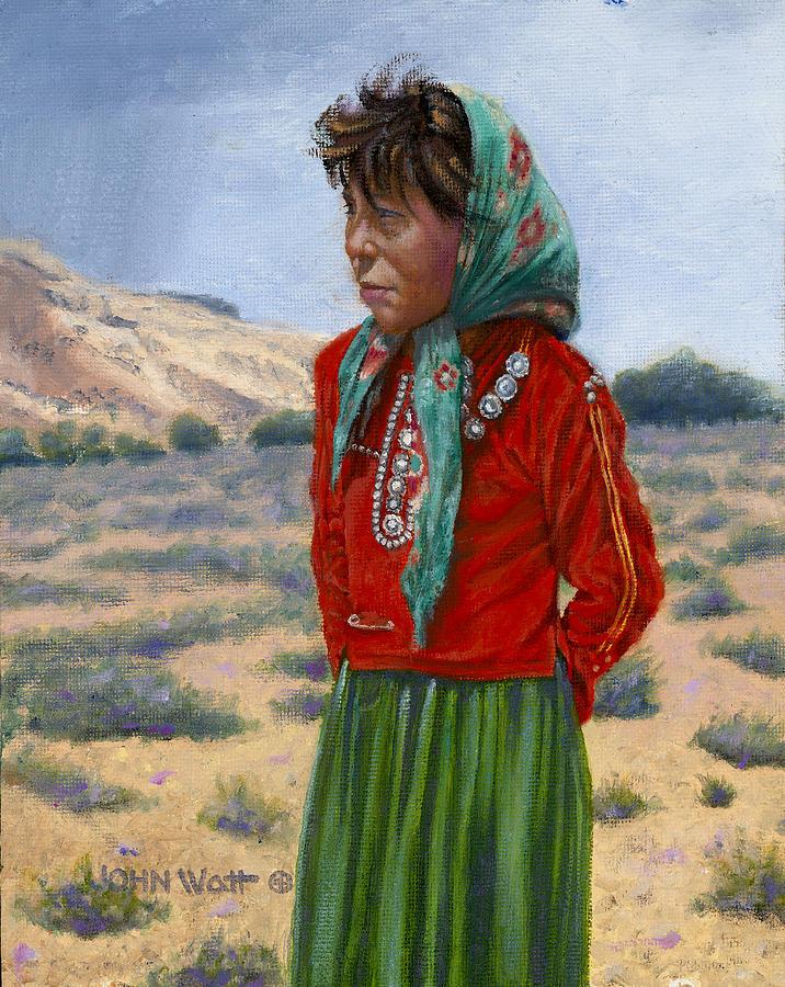 Silk Scarf Painting by John Watt