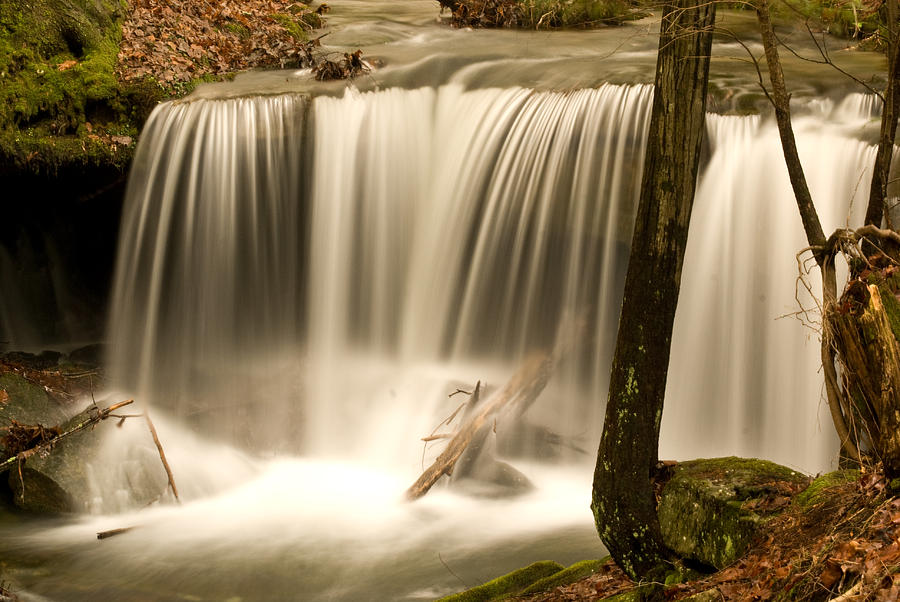 Silken Photograph - Silken Waterfall by Douglas Barnett