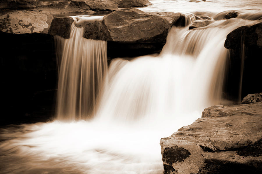Waterfall Photograph - Silken Waters by Tamyra Ayles
